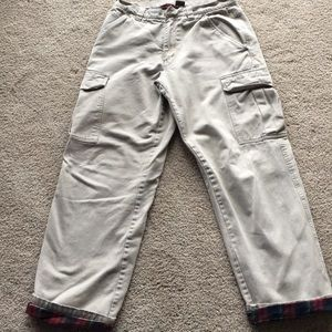 Men's Lee Dungarees Flannel Lined pants